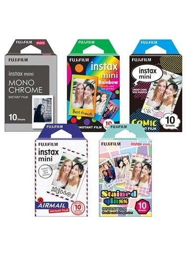 Fujifilm Instax Mini 5'Li Özel Film Set 50 Poz Renkli